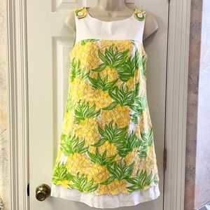 Size 6 Lilly Pultizer dress pineapple print